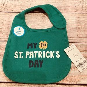 Baby boys/girls 1st St. Patrick's Day Cotton Bib
